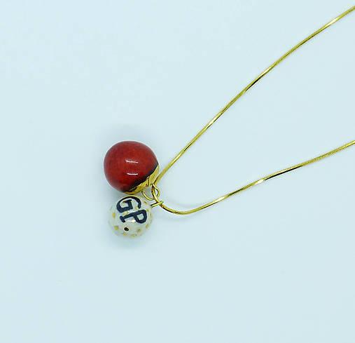 Tana šperky - keramika/zlato, iniciálkový :) milovanej osoby