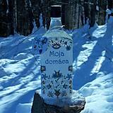 Nádoby - Ozdobná fľaša Moja domáca výšivková - 10357004_