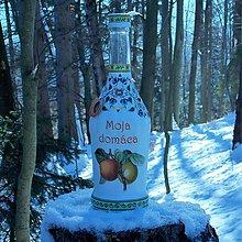 Nádoby - Darčeková fľaša Moja domáca marhuľovica - 10356903_