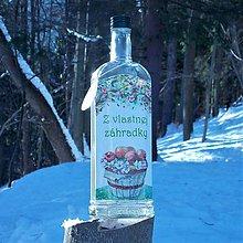 Iné - Darčeková fľaša Z vlastnej záhradky - 10356969_