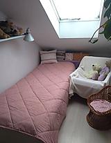 Úžitkový textil - Staroružová obojstranná deka - 10356801_