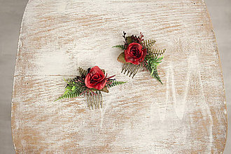 Ozdoby do vlasov - Kvetinový mini hrebienok - 10356962_