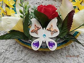 Dekorácie - Jarný motýľ - 10358605_