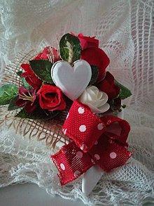 Dekorácie - dekorácia - Valentínka, MDŽ - 10357468_