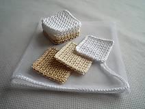 Úžitkový textil - Kozmetické tampóny - štvorec - 10358013_