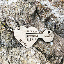 Kľúčenky - Valentínsky darček - kľúčenka srdiečko s kľúčom - 10356577_