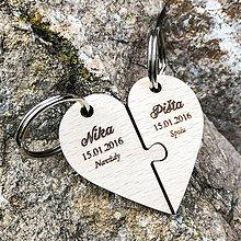 Kľúčenky - Valentínsky darček - kľúčenka Srdiečko - 10356710_