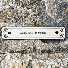 Papiernictvo - Valentínsky darček - drevená záložka do knihy - 10356771_