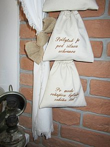 Úžitkový textil - Bavlnené vrecúška - na bylinky/motivačné - 10355686_