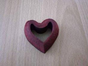 Polotovary - Drevené srdce červené - 10358661_
