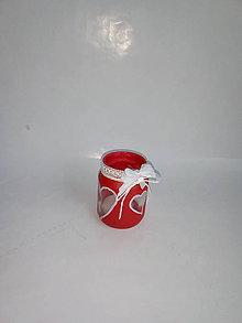 Svietidlá a sviečky - Malý valentínsky svietník - 10357417_