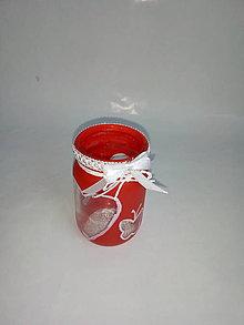 Svietidlá a sviečky - Väčší Valentínsky svietník - 10357496_