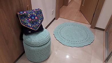 Úžitkový textil - háčkovaný koberec - 10358746_