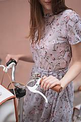 Sieťkové šaty s potlačou ruží ROSE COLLECTION