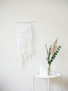 Dekorácie - Strapúch - biela krajka - 10356226_