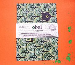 Úžitkový textil - Voskované vrecko - Les azúrový - 10358123_