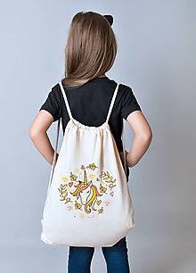Batohy - Jednorožec - bavlnený detský batoh - 10356222_