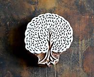 - Drevená pečiatka - strom gaštan - 10356831_