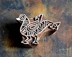 Pomôcky/Nástroje - Drevená pečiatka - indiánský vták - 10355731_