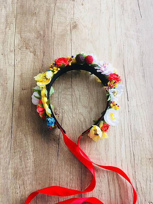 7508d2f3f70 Květinová čelenka (parta) LÉTO   KatMade - SAShE.sk - Handmade ...