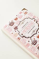 """Papiernictvo - Linajkový zápisník """"Morning Coffee"""" - 10357020_"""
