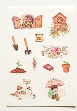 """Papier - Nálepky """" Garden """" - 10357124_"""