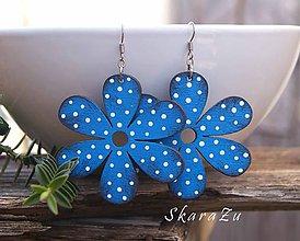 Náušnice - Bloom Blue // - 10356051_