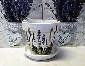 Nádoby - kvetináč levanduľa - 10358695_