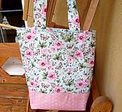 Nákupné tašky - Romantické ruže  - taška  - 10356818_
