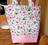 Nákupné tašky - Romantické ruže  - taška  - 10356819_