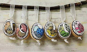 Dekorácie - liliputie vajíčka /sada 6ks - 10355234_