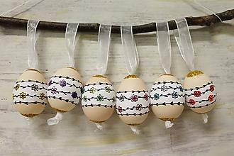 Dekorácie - Liliputie vajíčka /sada 6ks - 10355248_