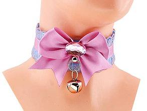 Náhrdelníky - Obojok čipkový obojok hranie mačka lolita kawaii gothic pastel, kitten play collar BDSM DDLG pet play collar 44 - 10362113_