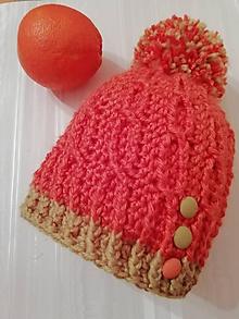 Detské čiapky - Detská oranžovka - 10360896_