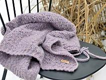 Textil - Detská deka AKO VÁNOK: fialový melír - 10360349_
