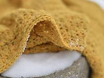 Textil - Detská deka Baby alpaka + merino: horčicový melír - 10360460_