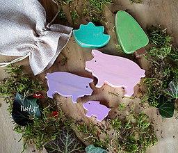 Hračky - Drevené hračky - Rodinka Pána Grofíka - 10361491_