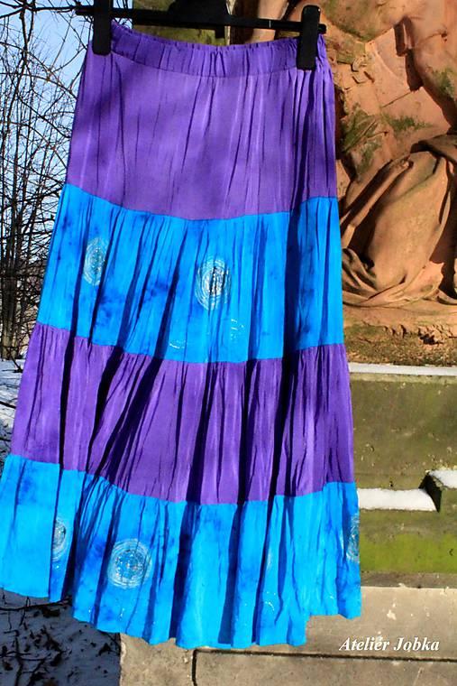 Hedvábná sukně malovaná   jobka - SAShE.sk - Handmade Sukne da8cf0e533