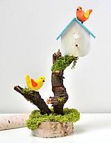 - Veľkonočná dekorácia -Vtáčia búdka na starom pni - 10359689_