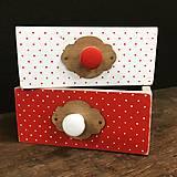 Šuplíček bodky červená a biela
