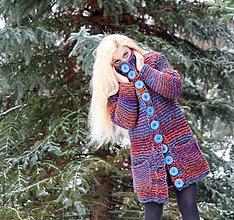 """Kabáty - Pletený kabát """"Nina"""" - 10360852_"""
