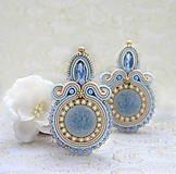 Náušnice - Modré z neba /plesové šujtášové náušnice/ - 10359505_