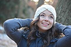 Ozdoby do vlasov - čelenka v bílé - 10359193_