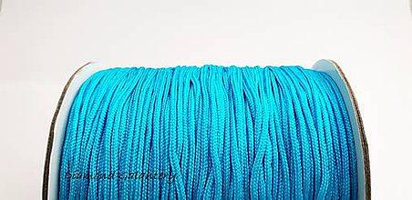Galantéria - Shamballa šnúrka nylonová 1,5 mm - Tyrkys - 10360712_