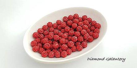 Korálky - Shamballa korálky jednodierkové - náušnicové - Červené - 10361187_