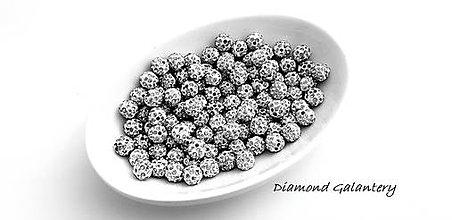 Korálky - Shamballa korálky 10 mm - Crystal - 10361767_