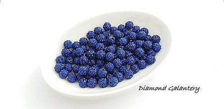 Korálky - Shamballa korálky 10 mm - Kráľovská modrá - 10361806_