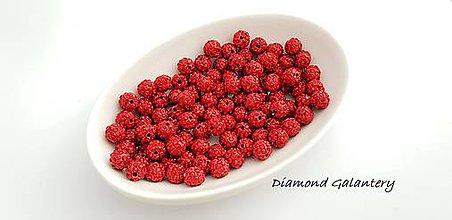 Korálky - Shamballa korálky 10 mm - Červené - 10361901_