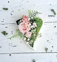 Kytice pre nevestu - Srdiečko na svadobné obrúčky - 10360422_