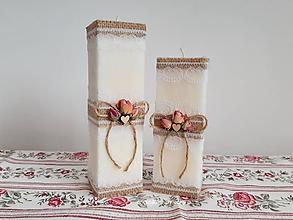 Svietidlá a sviečky - Dekoračné sviečky - 10359588_